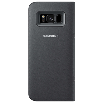 Black Samsung LED  View Cover - Galaxy S8+ Case Back View