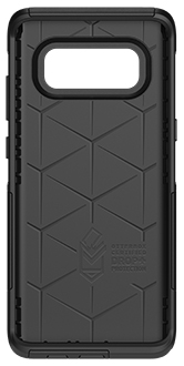 Black Otterbox Galaxy Note8 Commuter Case Front View