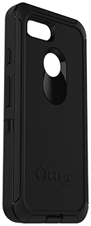Black OtterBox Pixel 3 Defender Case Angled View