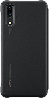 Black Huawei P20 Smart View Flip Cover Back