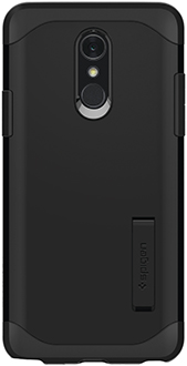 Black Spigen Slim Armor LG Q Stylo+ Case Back