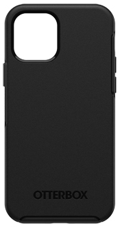 Black OtterBox iPhone 12 and iPhone 12 Pro Symmetry Case Back