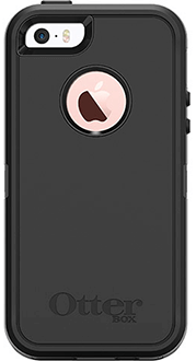 Black Otterbox iPhone 5/5S/SE Defender Case Back View