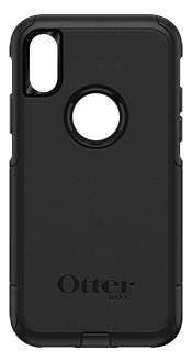 Black OtterBox iPhone X/Xs Commuter Case Back View