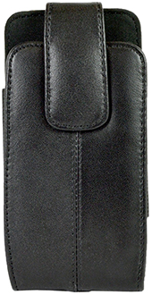 Small Black LBT Leather Holster Front