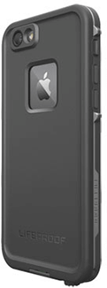 Black LifeProof FRĒ iPhone 6/6S Case Angled Back View