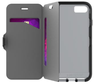 Black Tech 21 Evo Wallet - iPhone 7/8 Case Angled View
