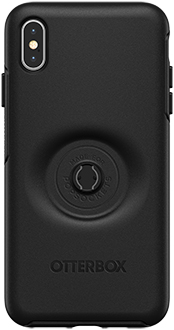 Black Otter + Pop Symmetry iPhone Xs Max Case with Pop Top Removed