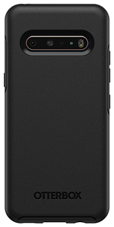 Black OtterBox V60 ThinQ 5G Symmetry Case Back