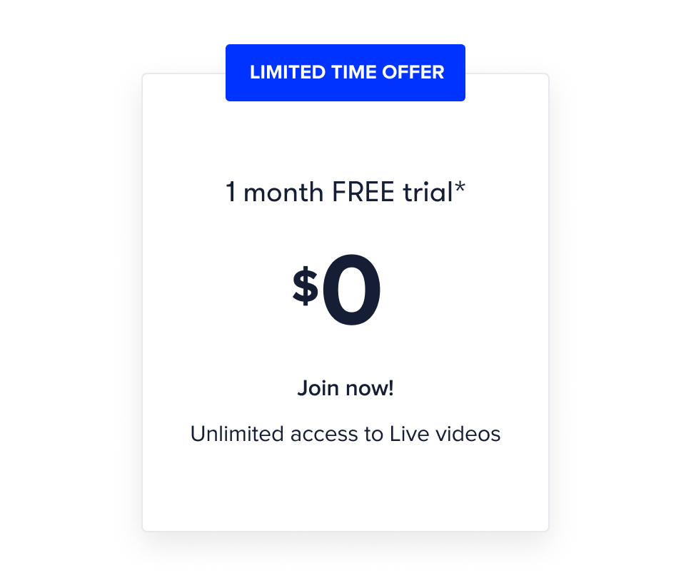 CP Live 1 month free trial