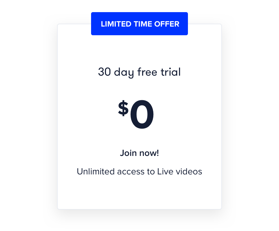 CP Live 30 day free trial