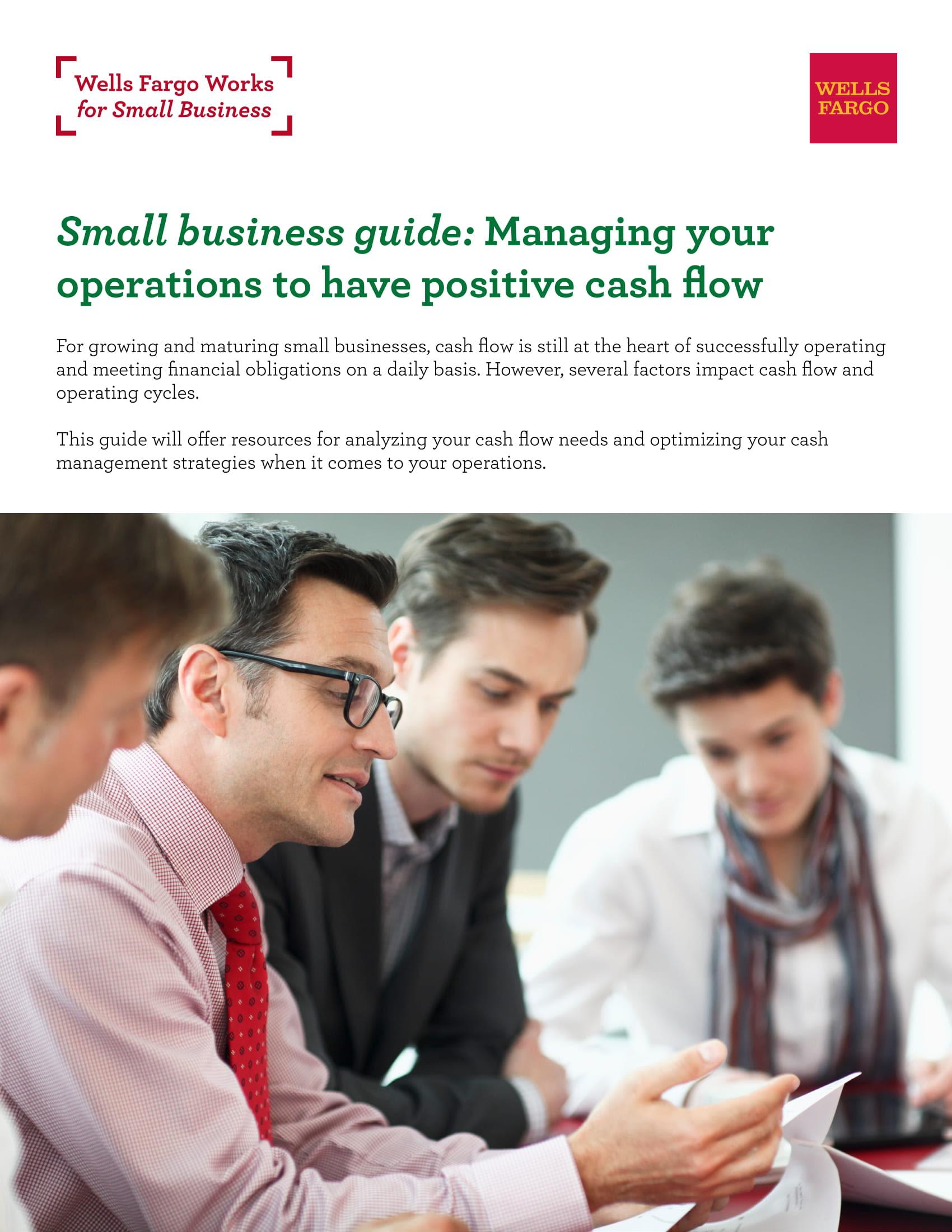Improve Operations for Positive Cash Flow | Wells Fargo