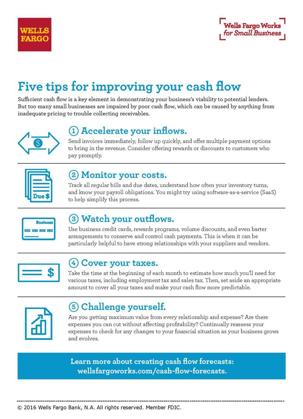 Enhance Cash Flow   Wells Fargo