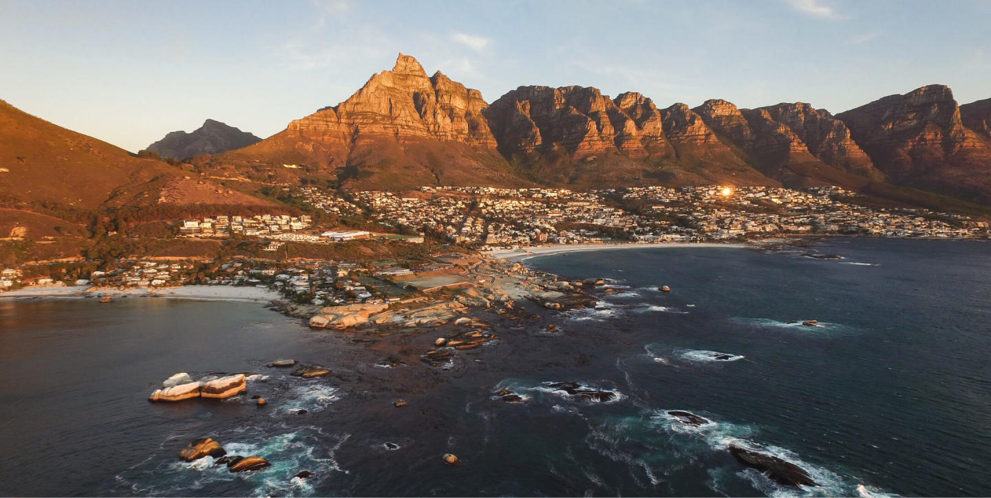 Aerial view of Cape Town, SA