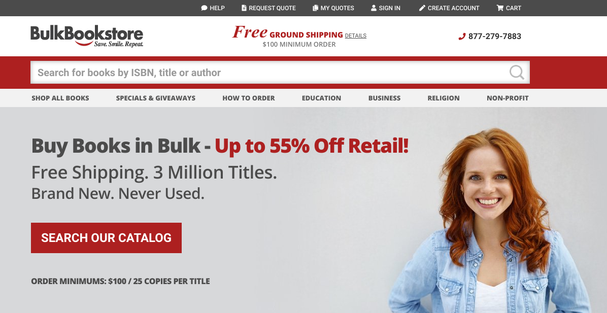 Bulk Bookstore Web Graphic