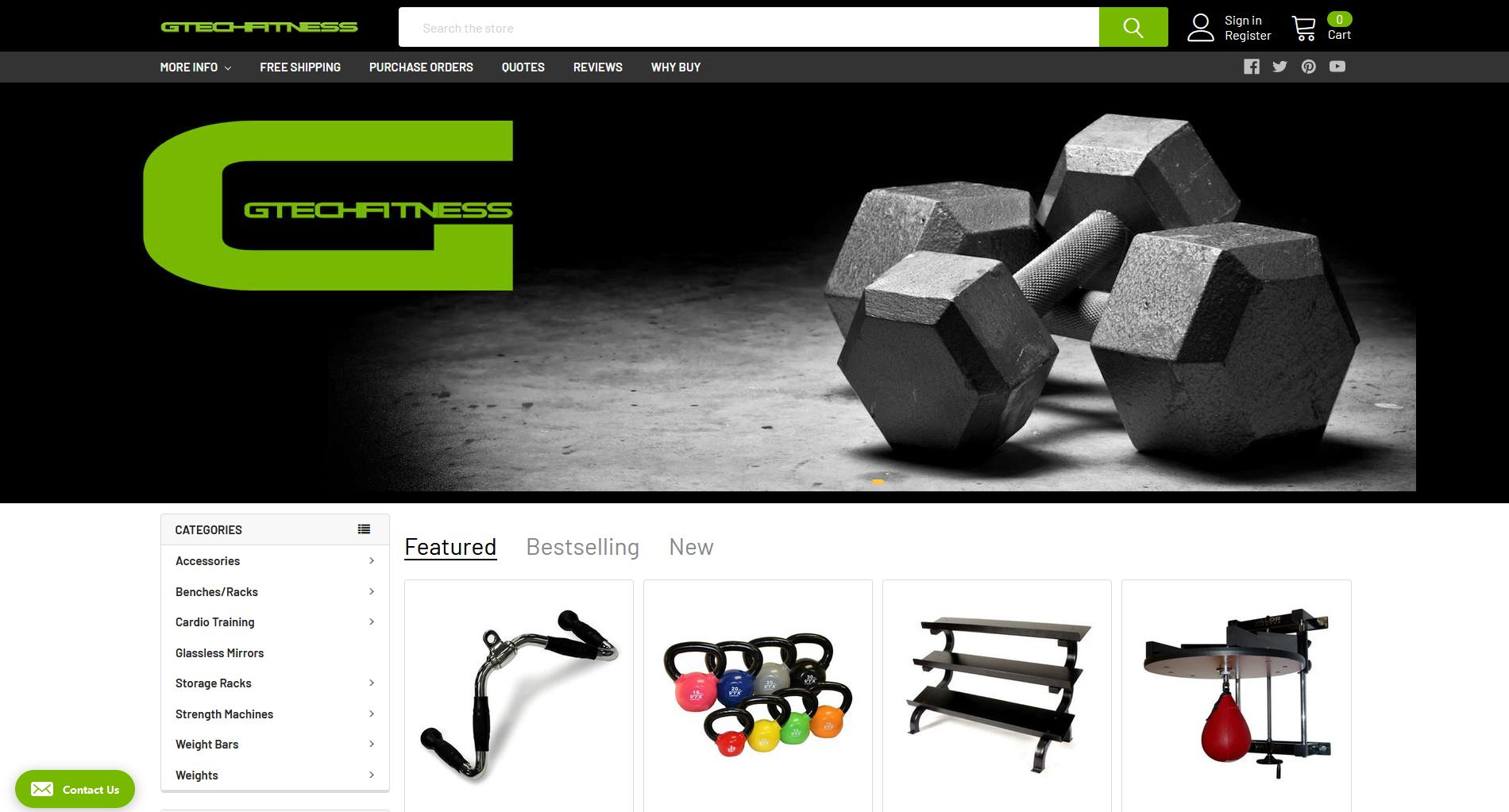Gtech Fitness Website Graphic