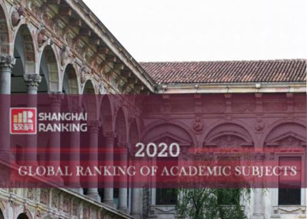 La Statale nel Global Ranking of Academic Subjects di ARWU