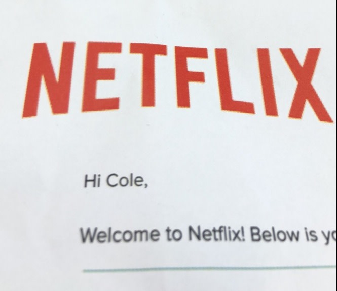Welcome to Netflix letter