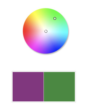 Color Wheel - With Purple and Green Complimentary Colors