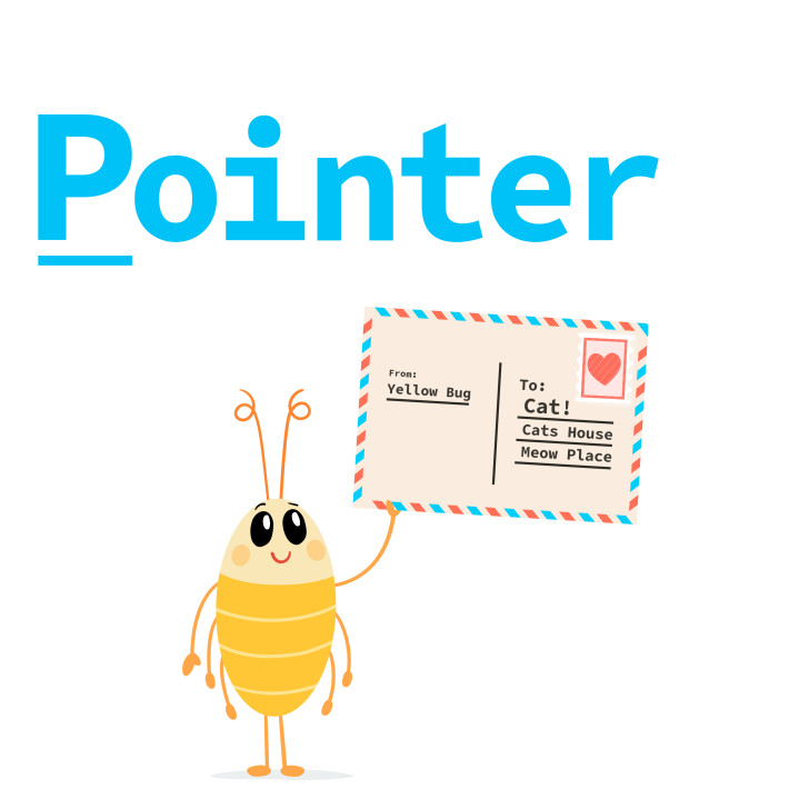 A pointer is reference to data!