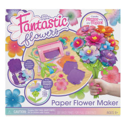 The Original Fantastic Flowers Paper Flower Maker Front of Box
