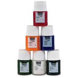 Pebeo Vitrea 160 Glass Paint - Set of 6 Frosted Colors, 20 ml bottles