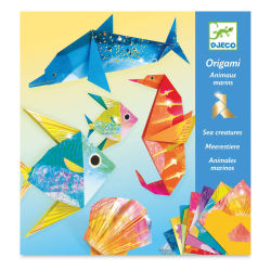 Djeco Origami Kit - Sea Creatures (Front of packaging)