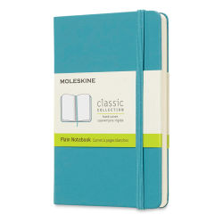 "Moleskine Classic Hardcover Notebook - Reef Blue, Blank, 5-1/2"" x  3-1/2"""