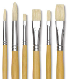 Academic White Bristle Set of 6, Large
