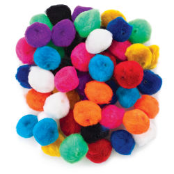 Pom Pom Beads - 1'', 50 Piece Assortment