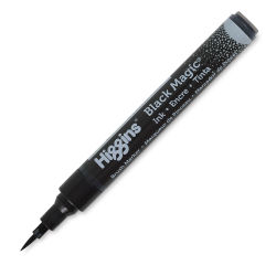 Higgins Ink Pump Marker - Black Magic, Brush Nib