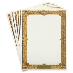 Pacon Art1st Gold Frame Watercolor Paper - 9'' x 12'', Pkg of 30