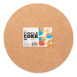 Darice Cork Shapes - Circle, 12'', Pkg of 4
