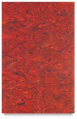 Books by Hand Marbled Paper - 12'' x 19'', Red