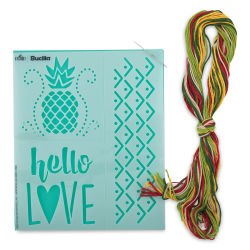 Bucilla Fashion Embroidery Template Kit - Hello/Love