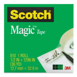 Scotch Magic Transparent Tape Roll - 1/2'' x 36 yards, 1'' Core