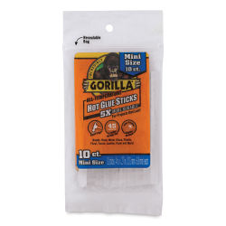 Gorilla Glue Mini Hot Glue Sticks -  Pkg of 10, 4''