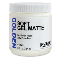 Golden Soft Acrylic Gel Medium - Matte, 8 oz jar