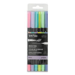 Brea Reese Dual Tip Brush Pens - Pastel Colors, Set of 6