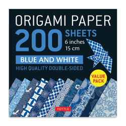 Tuttle Origami Pack Blue and White Patterns
