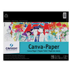 Canson Foundation Canva-Paper Pad - 12'' x 16'', White, 10 sheets