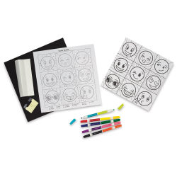 Faber-Castell Color By Number Set - Emoji Pop-Art