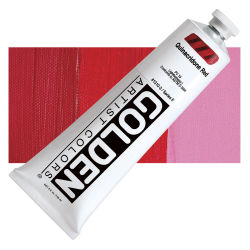 Golden Heavy Body Artist Acrylics - Quinacridone Red, 5 oz tube