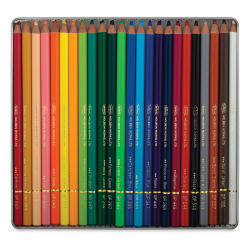 Holbein Artists' Colored Pencils - Assorted Tones, Set of 24, Tin Box