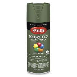 Krylon Colormaxx Spray Paint - Italian Olive, Satin, 12 oz
