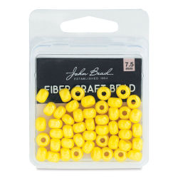 John Bead Fiber Craft Beads - Yellow Luster