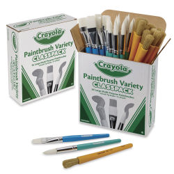 Crayola Large Paintbrush Variety Classpack - Set of 36