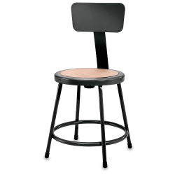 National Public Seating Corp. Fixed Height Stool -  24'', with Backrest