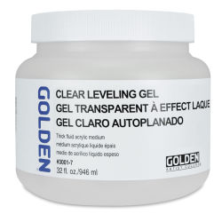 Golden Self-Leveling Clear Gel Medium - Gloss, 32 oz jar