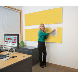 Screenflex Acoustical Panel - 90'' x 22'', Primary Yellow